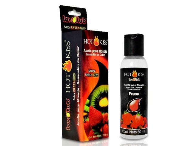 LovLuv Hot Kiss Aceite para Masaje - Fresa 60ml