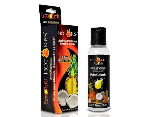 LovLuv Hot Kiss Aceite para Masaje - Piña Colada 60ml
