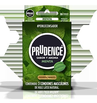 Condones Prudence con sabor - Menta