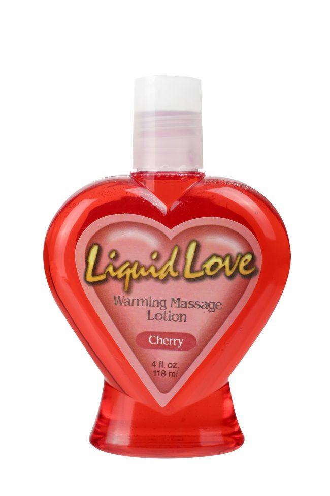 Liquid Love Warming Massage Lotion Cherry 4 oz. (120ml)