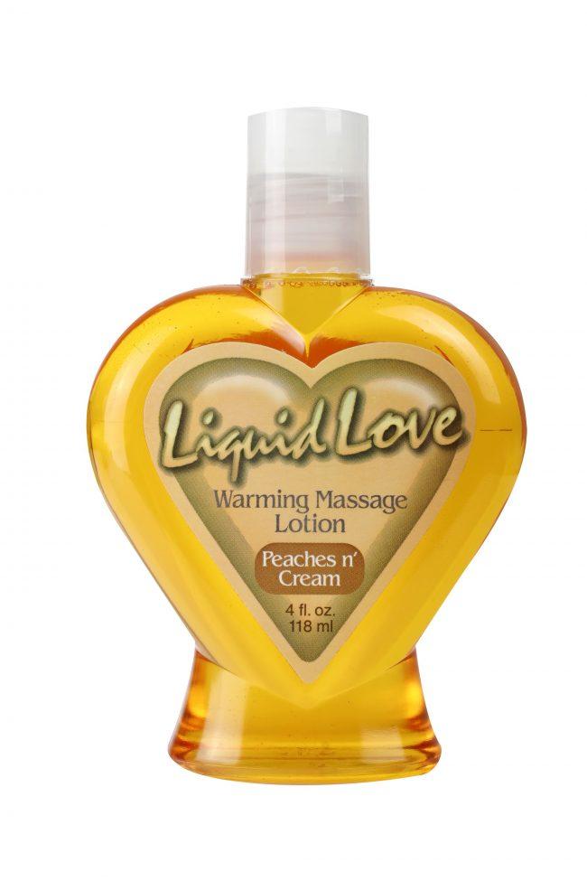 Liquid Love Warming Massage Lotion Peaches 'N Cream 4 oz. (120ml)