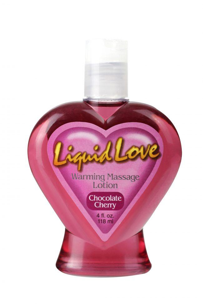 Liquid Love Warming Massage Lotion Chocolate Cherry 4 oz. (120ml)